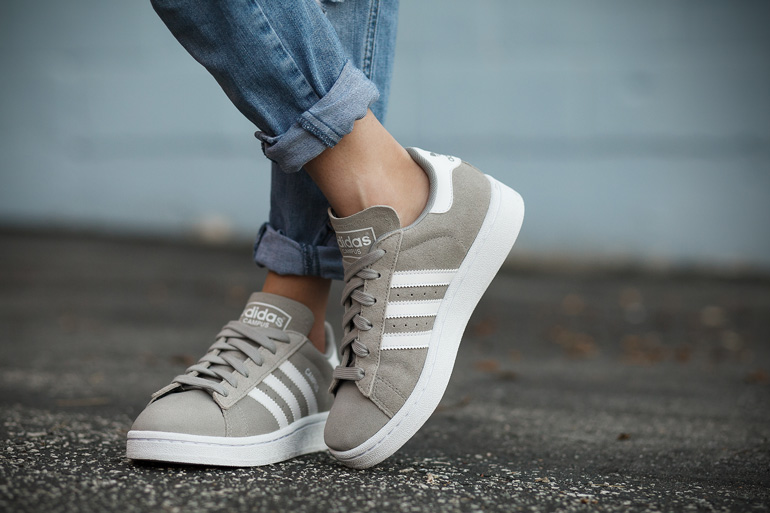 Adidas Campus suede sneaker in grey