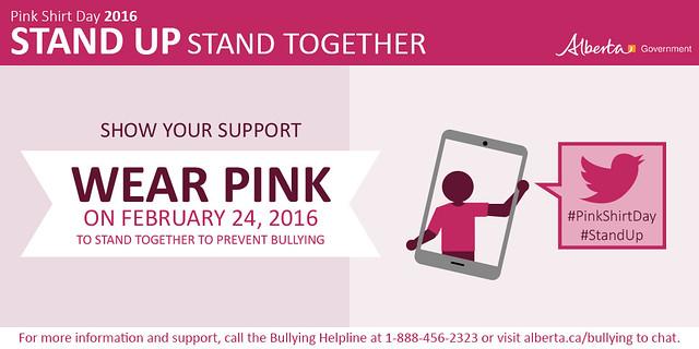 Pink Shirt Day Alberta