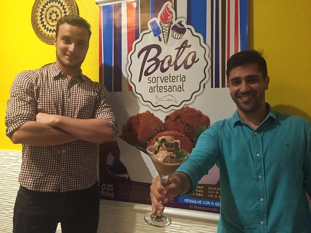 Degustação promovida pela sorveteria Boto