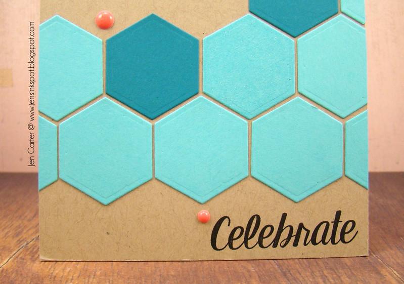 Jen Carter Hexagon Celebrate Closeup