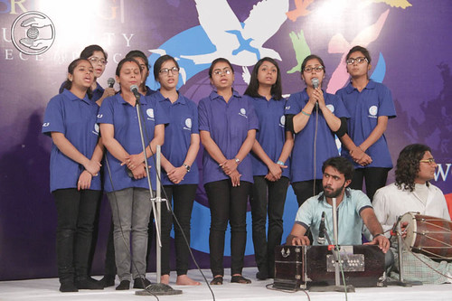 Devotional song by young devotees