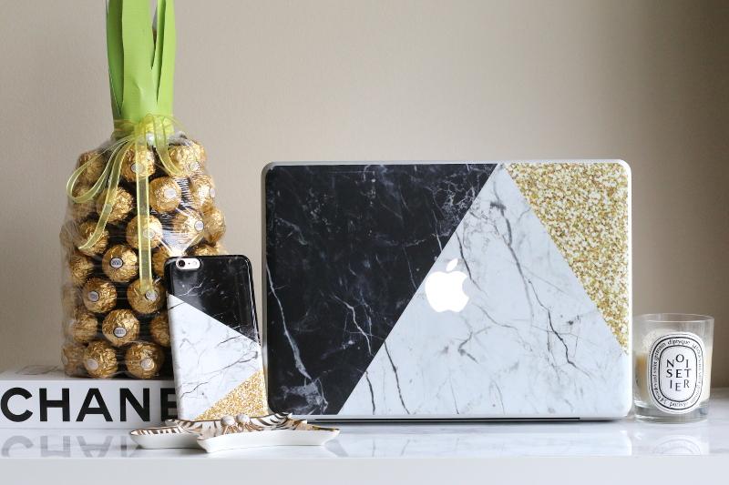 case app, custom iPhone, laptop skin, pineapple