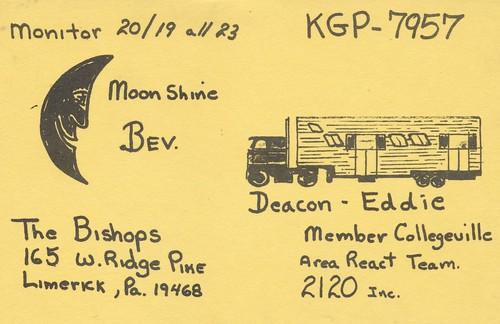 moon truck vintage pennsylvania semi qsl cb react cbradio qslcard
