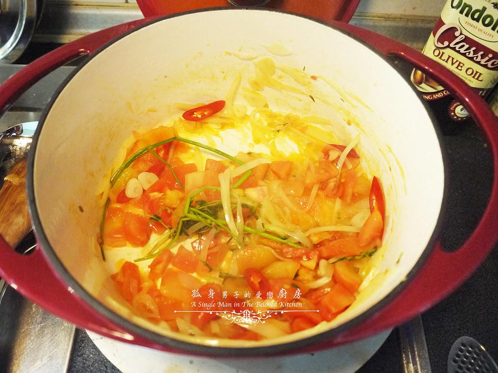 孤身廚房-寶迪鍋一鍋到底茄汁綜合貝類義大利麵佐烤天使紅蝦與櫛瓜14