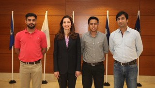 Assistant Secretary Ryan Poses for a Photo With Students From Lahore University of Management Sciences in Islamabad