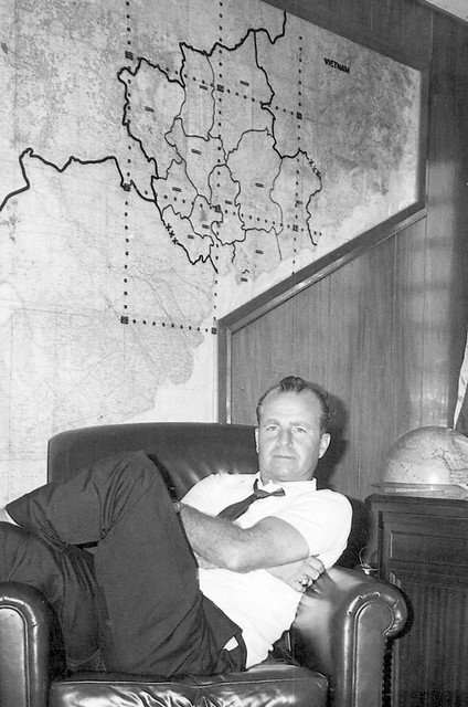 John Paul Vann in office in Saigon