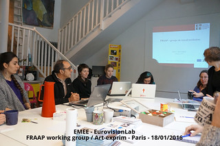 Workshop at Paris, Organized by UPEC-ESPE in partnership with Art-Exprim, Espace 36 and FRAAP