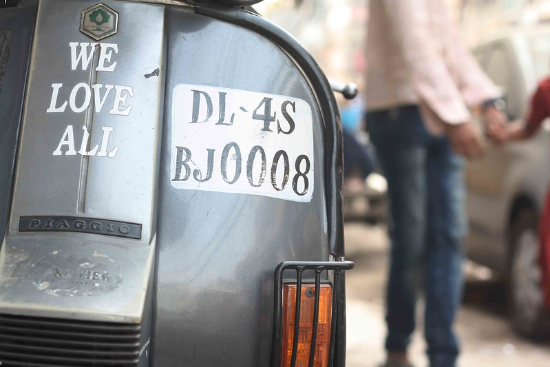 Photo Essay – DL Number Plate, Around Town