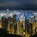 Hong Kong island from Victoria Peak by Kiril Ka