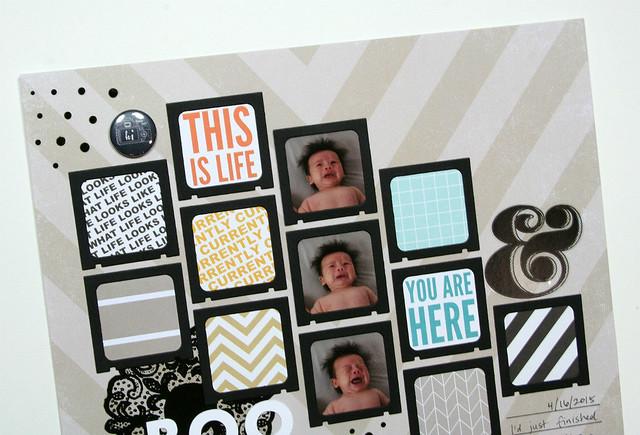 Parker's Boo Hoo Face Layout | shirley shirley bo birley Blog