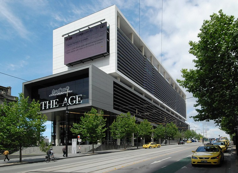The Age/Media House building, Collins St, 2010 (Source: Wikipedia)