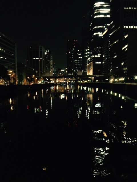 iphone photo 765: Night view from Yodoya-Bashi bridge, Osaka, 11 Jan 2016