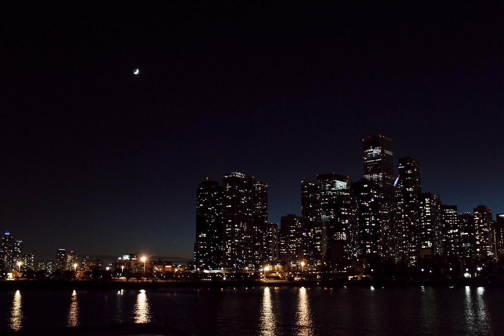 Chicago Skyline bei Nacht