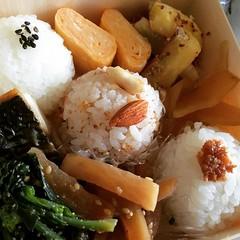 1st time trying freedom kitchen's bento...delicious!  #bento #minoo #osaka #lunch #お弁当 #箕面 #大阪 #フリーダムキッチン箕面