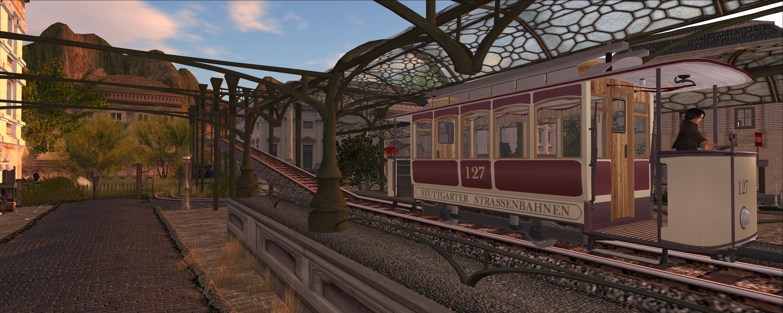 The Stuttgart tramway