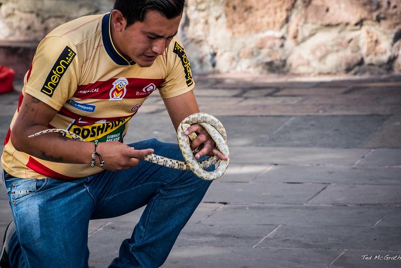 2015 - MEXICO - Morelia - Snake Charmer