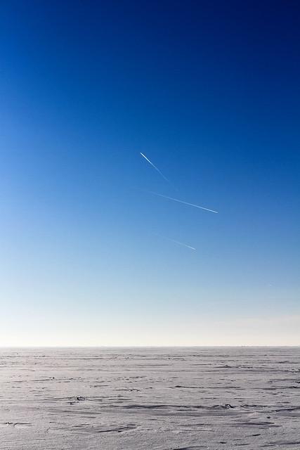 Ventės ragas - Nida ledu | Lėktuvai