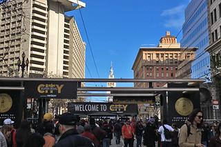 Super Bowl City - Entrance