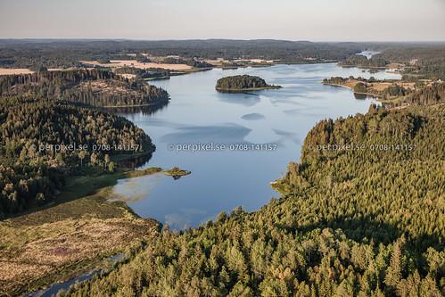 3 natur sverige swe ödeborg västragötaland flygfoto ellenösjön torsbyn