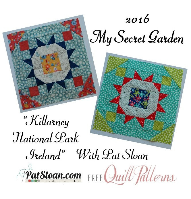 2016 2 Jan Pat Sloan Secret Garden Mystery BUTTON