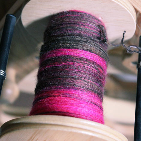 finished spinning these rolags