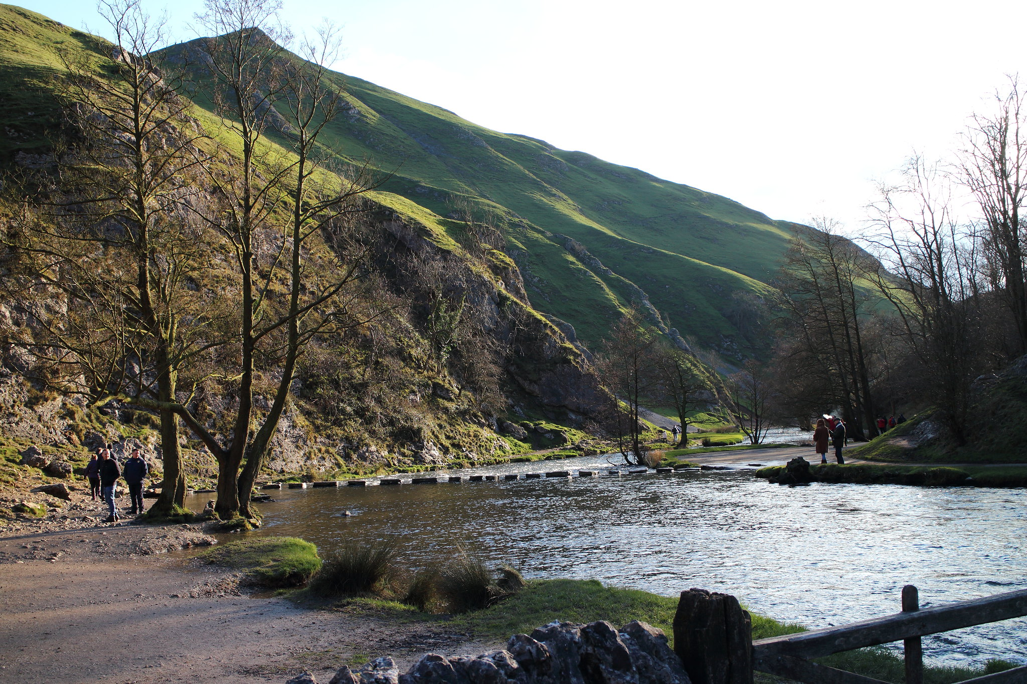 Dovedale Bathed In Sunshine