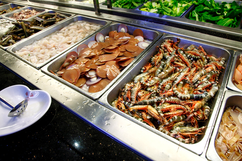 OIC Steamboat Buffet Seafood Prawns