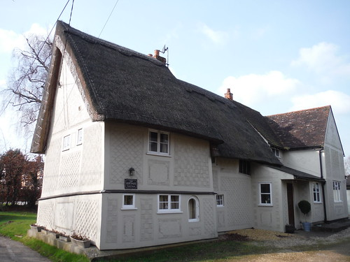 The Cottage, pargeted house in Wendens Ambo
