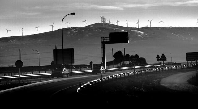 turbinas aeolicas rumbo a Medina del Campo, Spain (2016)