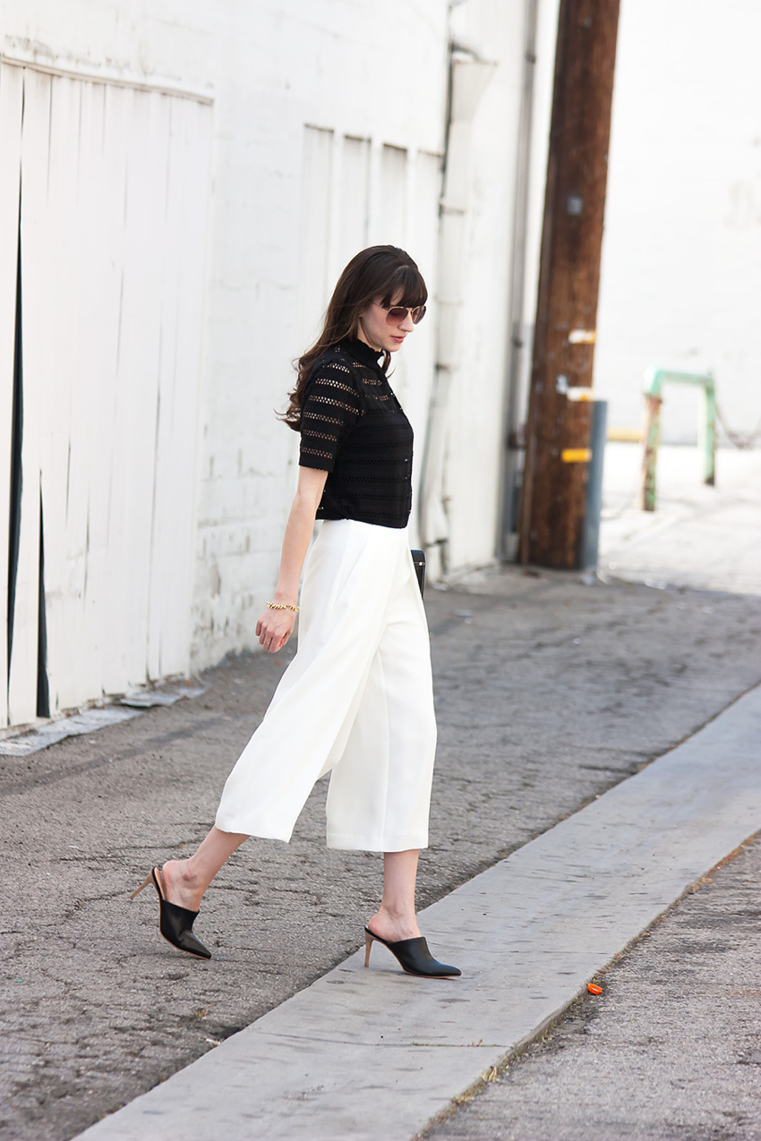 Marais Mules, Black and White Outfit