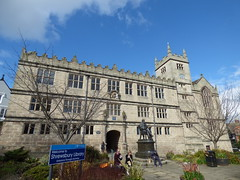 Photo of Shrewsbury School, Library, Shrewsbury, Charles Darwin, and Edward VI black plaque