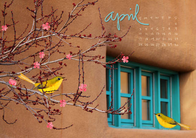 April 16 Desktop Calendar
