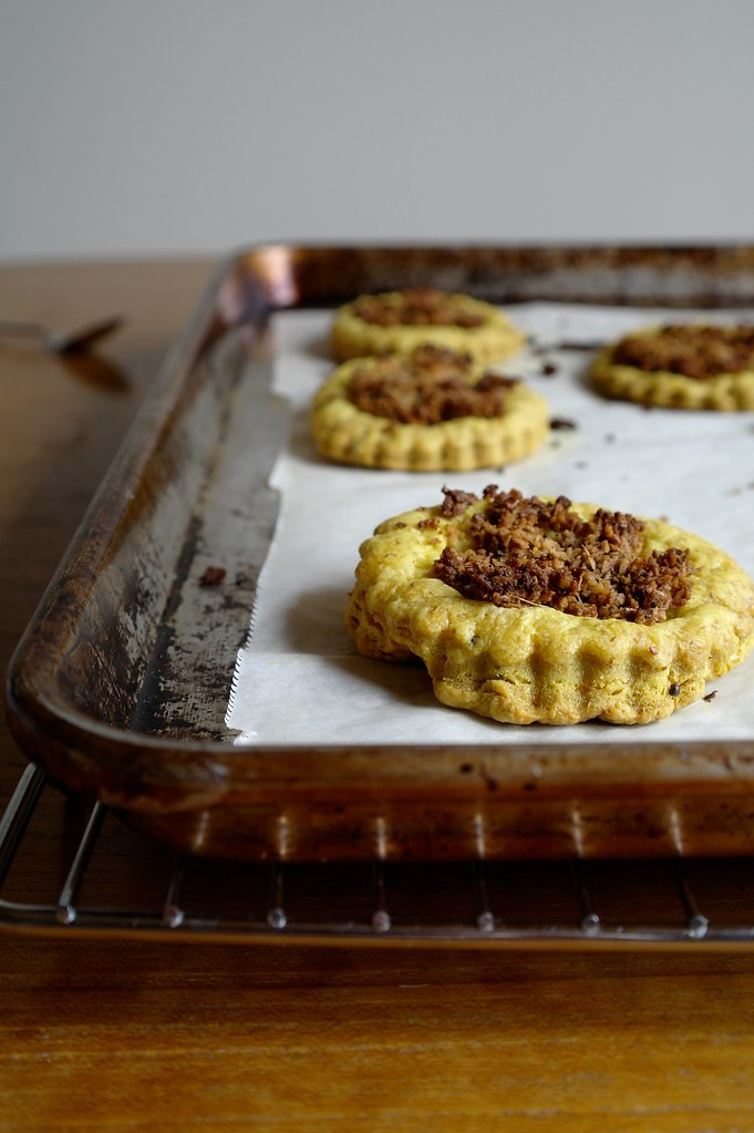 baked turmeric puff pastry