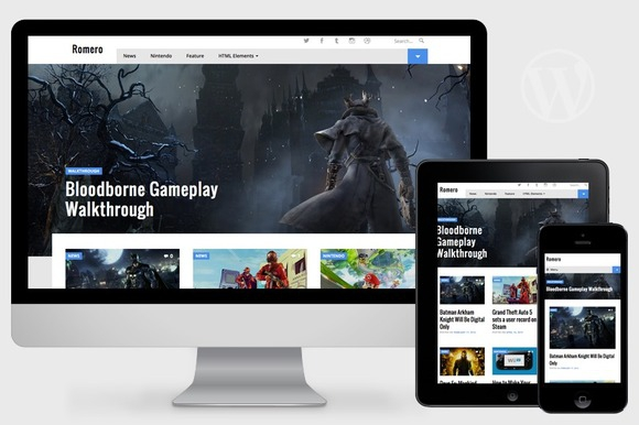 Romero v1.0 - WordPress Video Game Theme