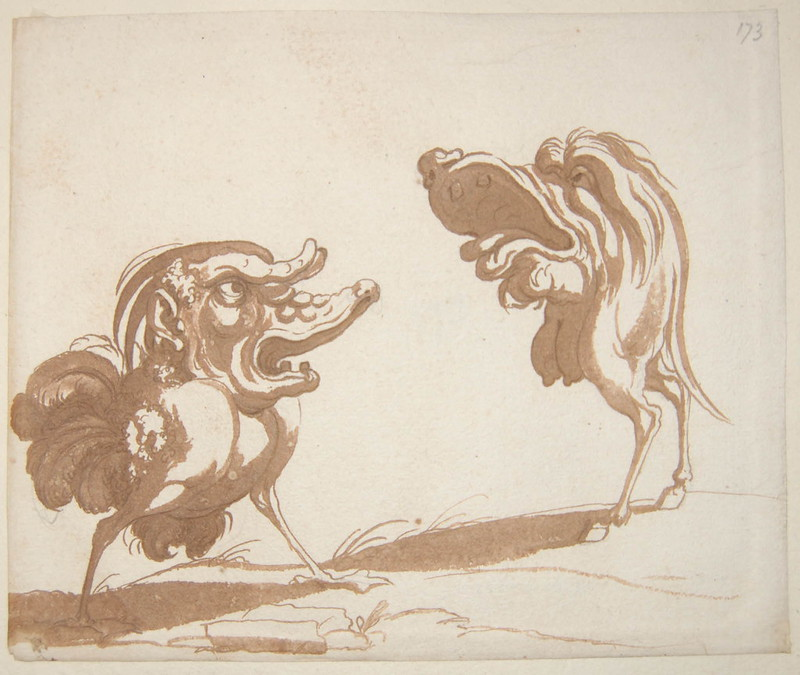 Arent van Bolten - Monster 173, from collection of 425 drawings, 1588-1633