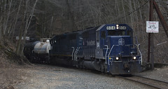 A small RJED stops after exiting the East portal of the Hoosac Tunnel with problems with the rent a wreck second unit.