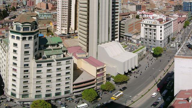Comienzo del prado de la ciudad de La Paz