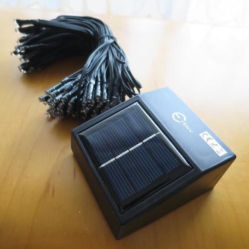 太陽電池のLEDライトね。