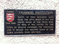 Photo of William Chambers black plaque