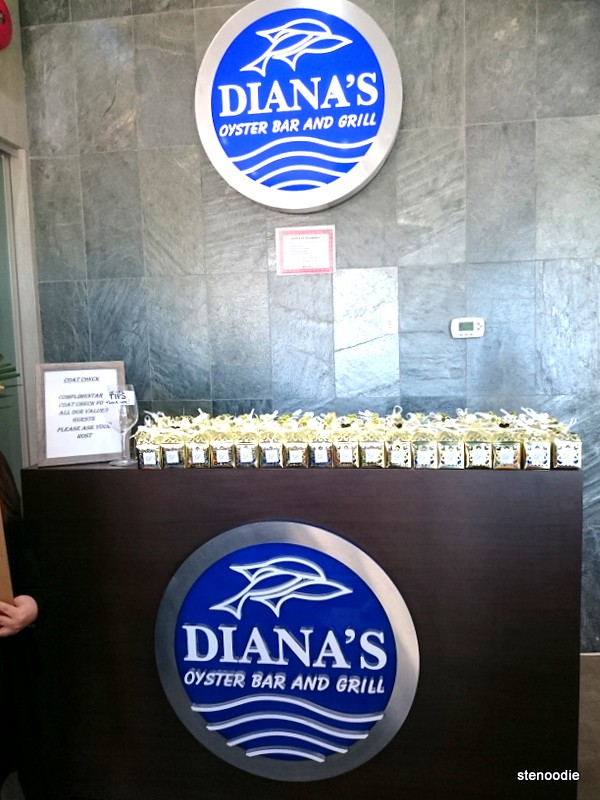 The front desk of Diana's Oyster Bar & Grill