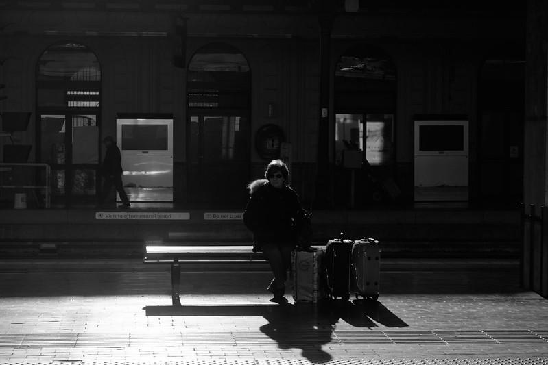 at station