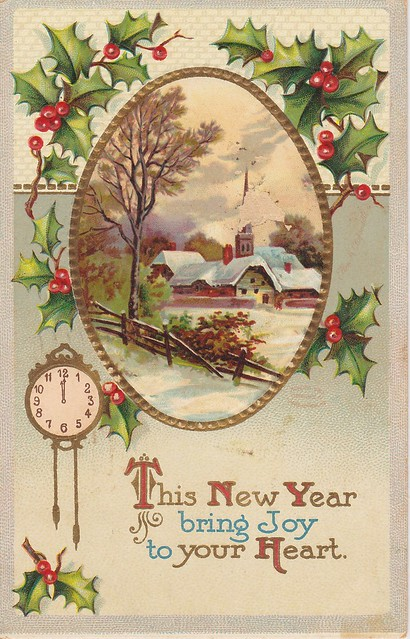 New Year's Postcard - Early 1900
