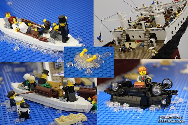 LEGO Titanic scenes