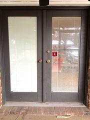 Broken French Door Window