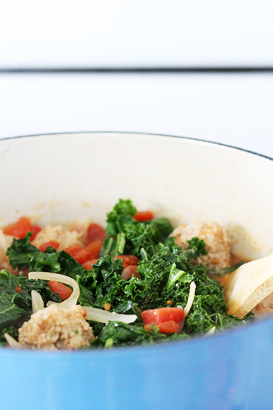 30-Minute Lighter Italian Wedding Soup | girlversusdough.com @girlversusdough