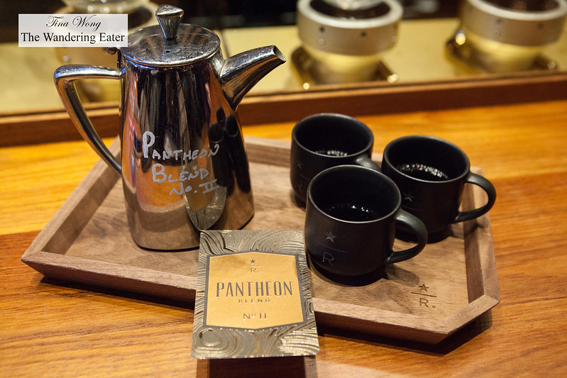 Siphon brewed Starbucks Patheon Roastery Blend