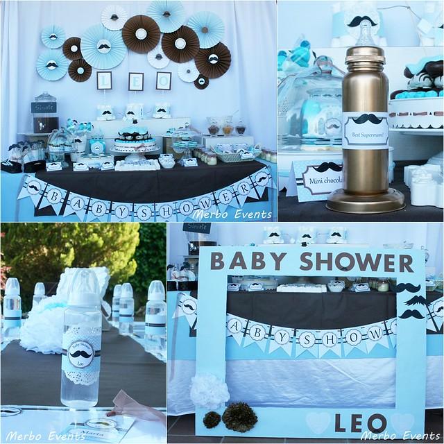 Baby shower moustache Merbo Events