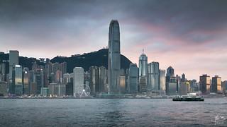 Hong-Kong silver skyline