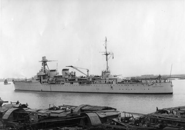 Haiphong 1938-39 - Tuần dương hạm Lamotte-Picquet tại Hải Phòng