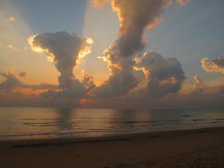 Dawn cloud and light from Aleenta Hua Hin, Pran Buri, Thailand